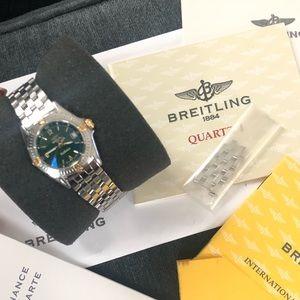 Breitling Women's Callistino Gold Silver Watch